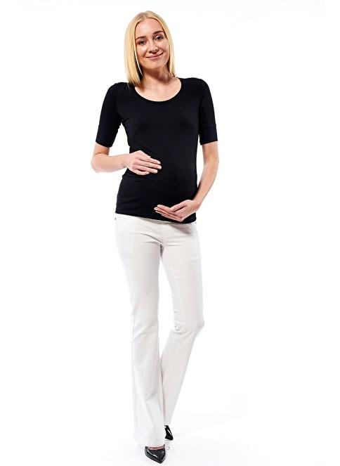 Motherway Maternity Jean Pantolon Beyaz